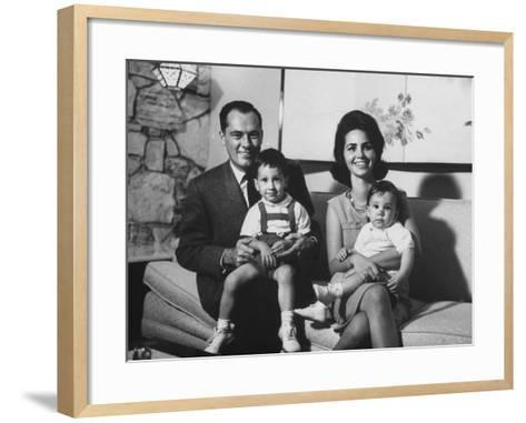 Conrad Hilton II and Family at their Home in Beverly Hills-Allan Grant-Framed Art Print