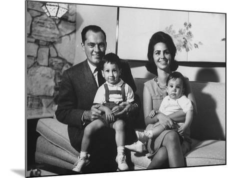 Conrad Hilton II and Family at their Home in Beverly Hills-Allan Grant-Mounted Premium Photographic Print