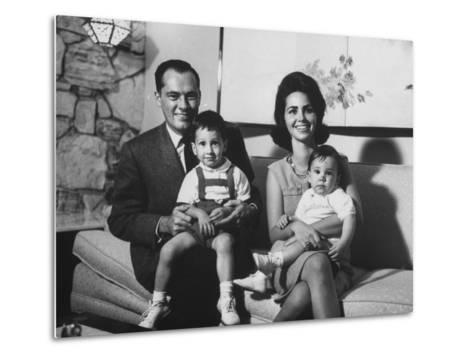 Conrad Hilton II and Family at their Home in Beverly Hills-Allan Grant-Metal Print