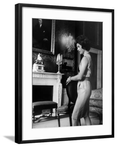 Mrs. John F. Kennedy Moving Chair in the White House-Ed Clark-Framed Art Print