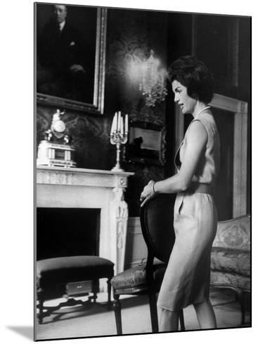 Mrs. John F. Kennedy Moving Chair in the White House-Ed Clark-Mounted Premium Photographic Print