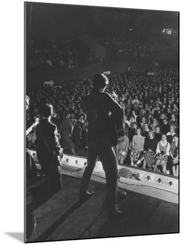 Singer Ricky Nelson and Band During a Performance-Ralph Crane-Mounted Premium Photographic Print