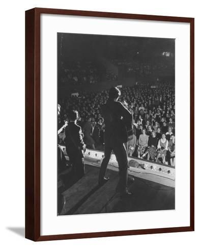 Singer Ricky Nelson and Band During a Performance-Ralph Crane-Framed Art Print