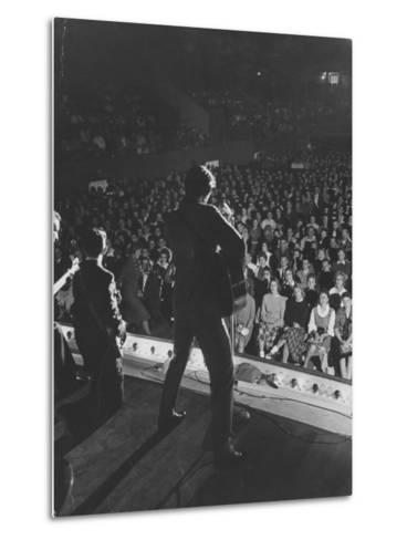 Singer Ricky Nelson and Band During a Performance-Ralph Crane-Metal Print