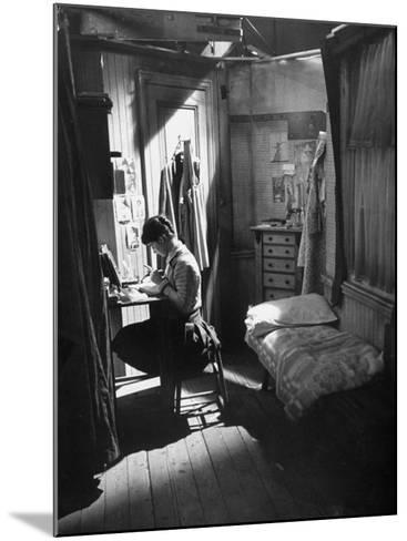 "Actress Millie Perkins, as Anne Frank in the Film ""The Diary of Anne Frank""-Ralph Crane-Mounted Premium Photographic Print"