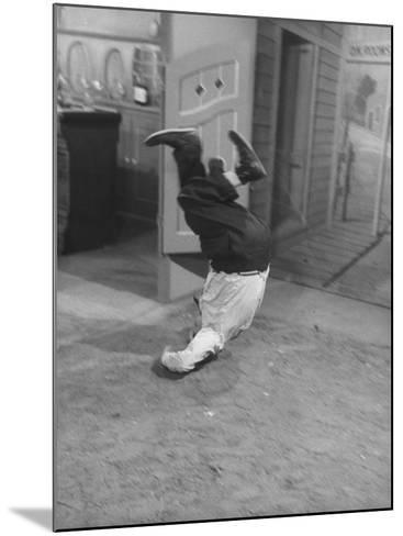 Actor Buster Keaton in a Scene from a TV Program-Loomis Dean-Mounted Premium Photographic Print