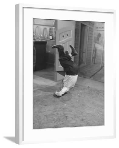Actor Buster Keaton in a Scene from a TV Program-Loomis Dean-Framed Art Print