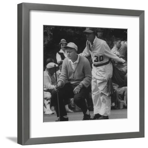 Jack Nicklaus During the Master Golf Tournament--Framed Art Print