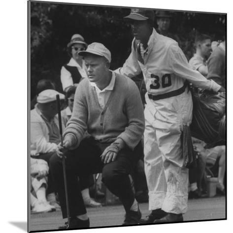 Jack Nicklaus During the Master Golf Tournament--Mounted Premium Photographic Print
