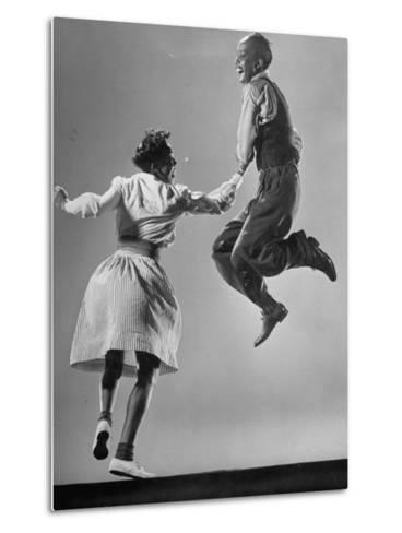 Leon James and Willa Mae Ricker Demonstrating a Step of the Lindy Hop-Gjon Mili-Metal Print