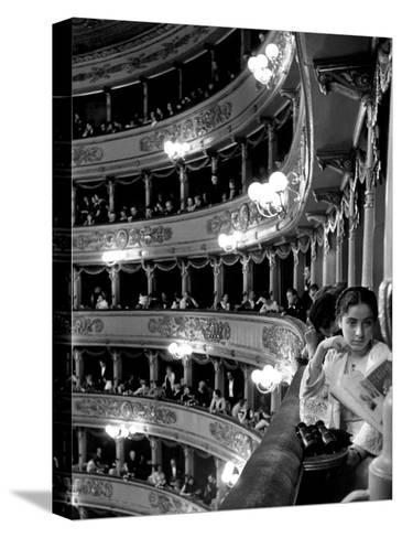Audience in Elegant Boxes at La Scala Opera House-Alfred Eisenstaedt-Stretched Canvas Print