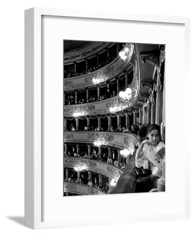 Audience in Elegant Boxes at La Scala Opera House-Alfred Eisenstaedt-Framed Art Print