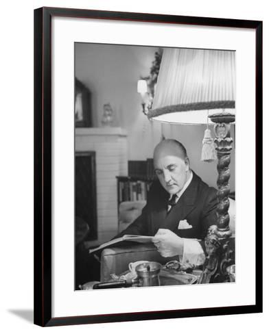 Tenor Max Lorenz Taking a Break--Framed Art Print