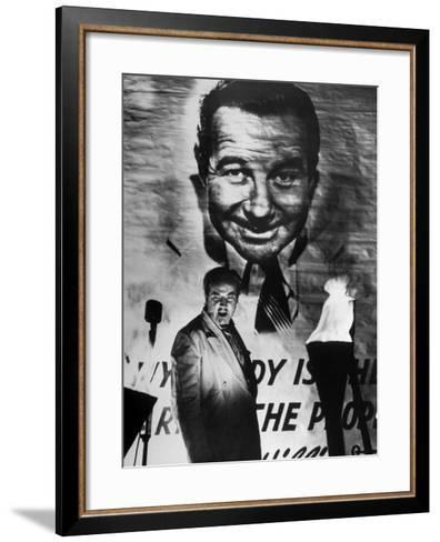 "Actor Broderick Crawford Performing in a Scene from the Movie ""All the King's Men""-Ed Clark-Framed Art Print"