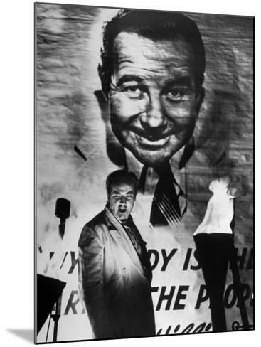 "Actor Broderick Crawford Performing in a Scene from the Movie ""All the King's Men""-Ed Clark-Mounted Premium Photographic Print"