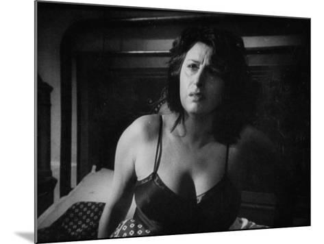 """Italian Actress Anna Magnani Appearing in the Movie """"Bellissima""""-Alfred Eisenstaedt-Mounted Premium Photographic Print"""