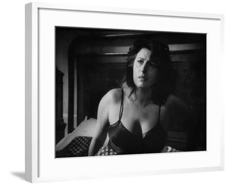 """Italian Actress Anna Magnani Appearing in the Movie """"Bellissima""""-Alfred Eisenstaedt-Framed Art Print"""
