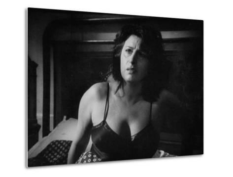 """Italian Actress Anna Magnani Appearing in the Movie """"Bellissima""""-Alfred Eisenstaedt-Metal Print"""