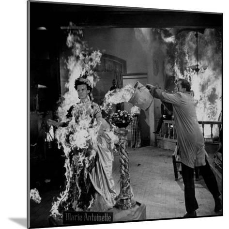 """Actor Vincent Price Putting Out Fire in Film """"House of Wax""""-J^ R^ Eyerman-Mounted Premium Photographic Print"""