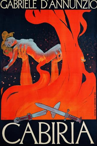 "Film Poster for ""Cabiria""-Ippolito Caffi-Stretched Canvas Print"