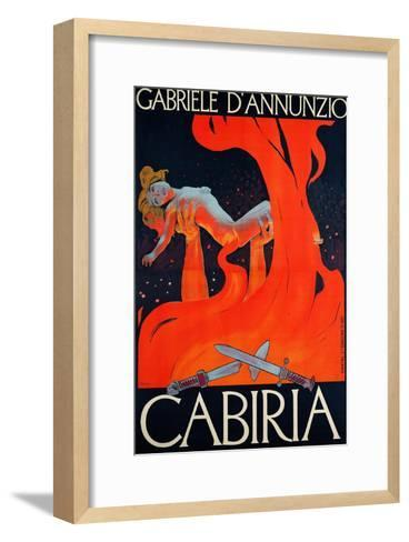 "Film Poster for ""Cabiria""-Ippolito Caffi-Framed Art Print"