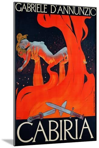 """Film Poster for """"Cabiria""""-Ippolito Caffi-Mounted Giclee Print"""