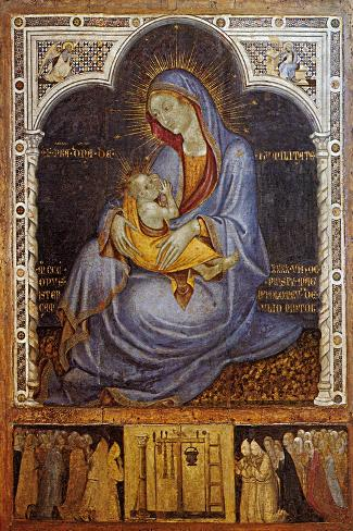 Madonna of Humility-Felice Giani-Stretched Canvas Print