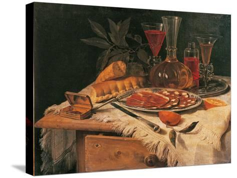 An Elegant Snack--Stretched Canvas Print
