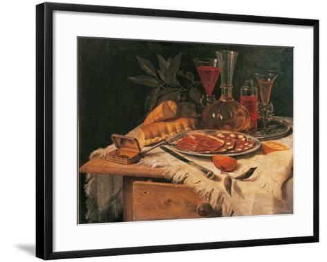 An Elegant Snack--Framed Art Print
