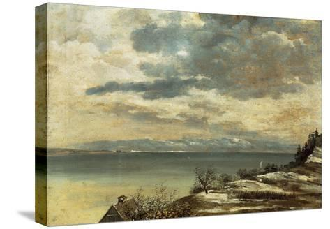 Dark Winter Day on Lake Constance--Stretched Canvas Print