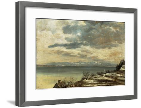 Dark Winter Day on Lake Constance--Framed Art Print