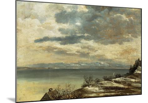 Dark Winter Day on Lake Constance--Mounted Giclee Print