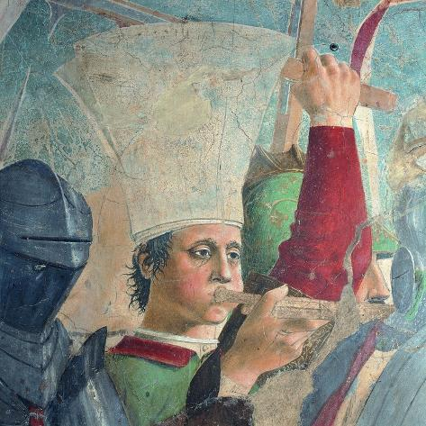 The Legend of the Cross: Defeat and Beheading of Chosroes (Battle of Heraclius Against Chosroes)-Piero della Francesca-Stretched Canvas Print