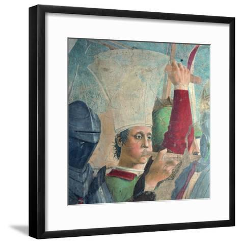 The Legend of the Cross: Defeat and Beheading of Chosroes (Battle of Heraclius Against Chosroes)-Piero della Francesca-Framed Art Print