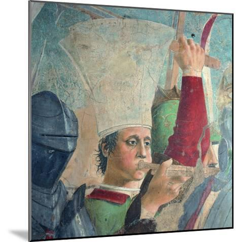The Legend of the Cross: Defeat and Beheading of Chosroes (Battle of Heraclius Against Chosroes)-Piero della Francesca-Mounted Giclee Print