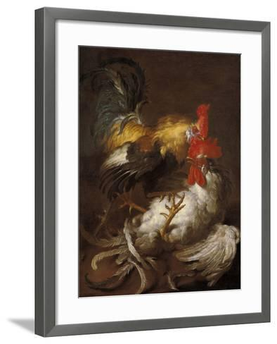 The Cockfight-Lorenzo Lotto-Framed Art Print