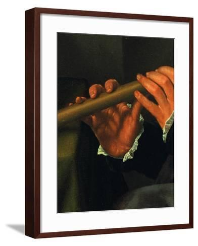 Portrait of a Player with Flute (The Flute Player)--Framed Art Print