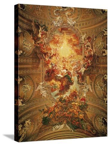 Triumph of the Name of Jesus-Il Baciccio-Stretched Canvas Print