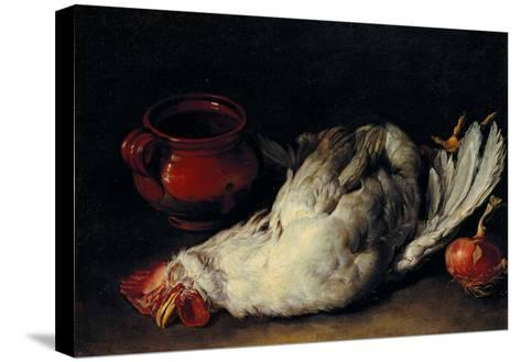 Still Life with Hen, Onion and Pot--Stretched Canvas Print