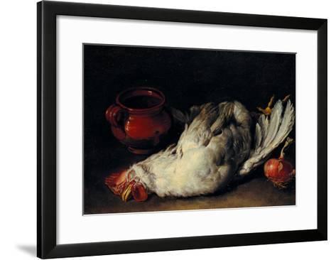 Still Life with Hen, Onion and Pot--Framed Art Print