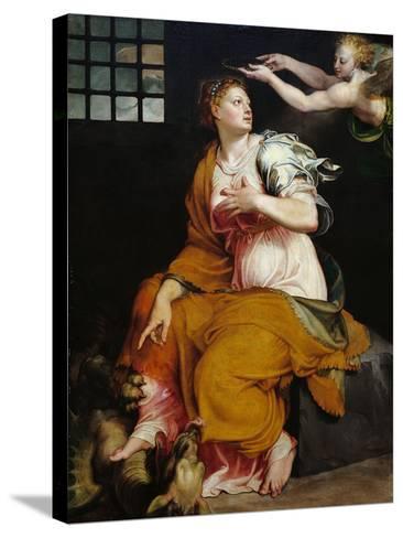 St Margaret-Lorenzo Viani-Stretched Canvas Print
