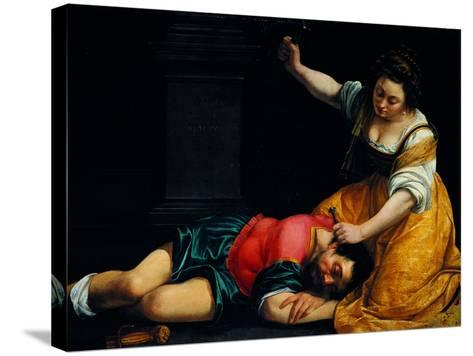 Jael and Sisera-Demetrio Cosola-Stretched Canvas Print