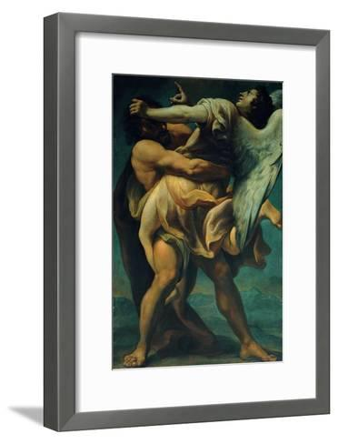 Jacob Struggles with the Angel--Framed Art Print