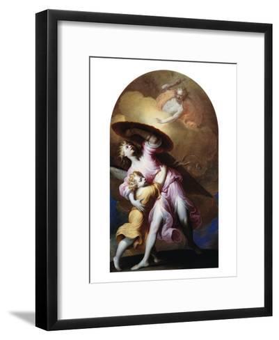 The Guardian Angel-Gian Lorenzo Bernini-Framed Art Print
