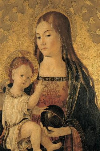 Madonna with Child--Stretched Canvas Print