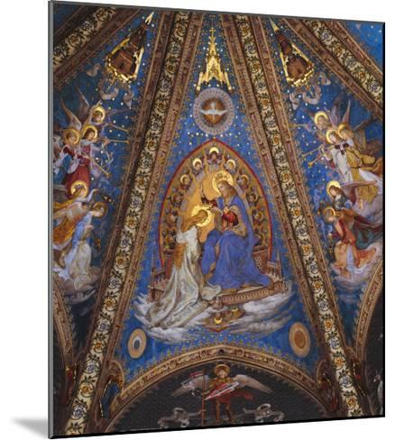 The Coronation of the Virgin Mary--Mounted Giclee Print
