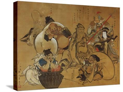 The Seven Gods of Fortune-Masolino Da Panicale-Stretched Canvas Print