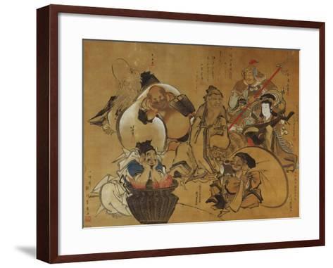 The Seven Gods of Fortune-Masolino Da Panicale-Framed Art Print