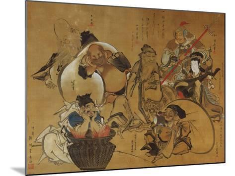 The Seven Gods of Fortune-Masolino Da Panicale-Mounted Giclee Print
