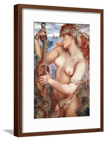 The Siren Mermaid Ligeia--Framed Art Print